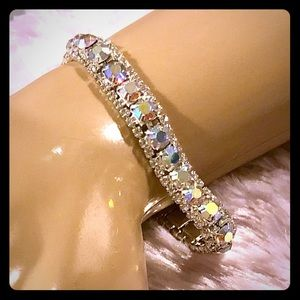 Jewelry - NEW Clear Colorful Crystal Bracelet